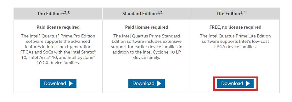 Quartus II Web Edition 13 0sp1をインストール – うろうろ電子工作